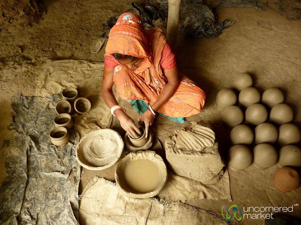 Adding Bottom to Ceramic Pots - Najirpur, Bangladesh