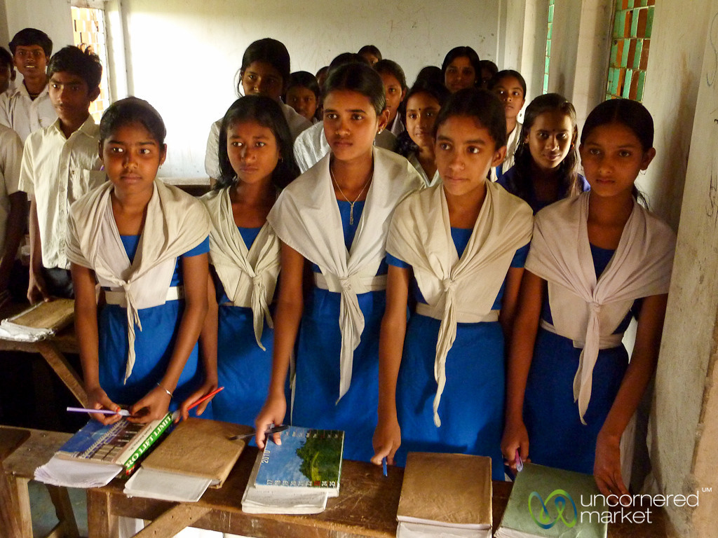 Girls at the Front of the Classroom - Nalbata, Bangladesh