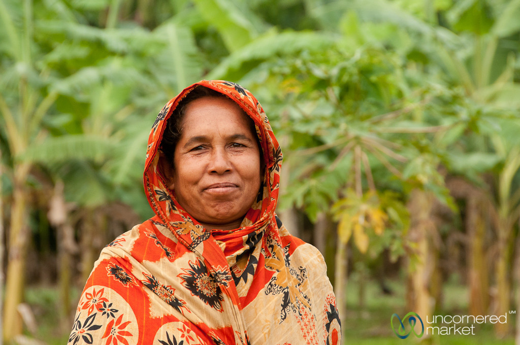 Bangladeshi Woman in Fields - Hatiandha, Bangladesh
