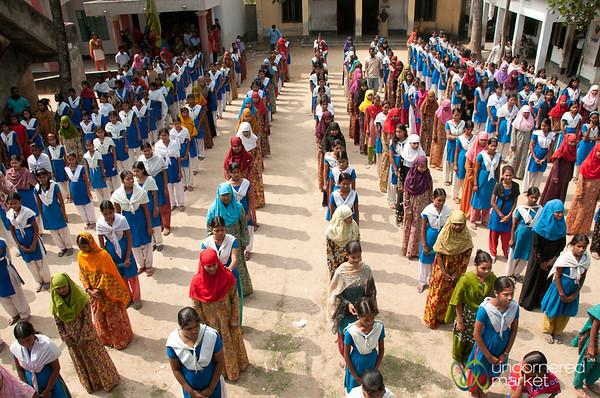 Students in School Courtyard - Hatiandha, Bangladesh