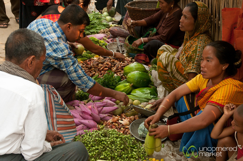 Vegetables and Vendors at the Market - Bandarban, Bangladesh