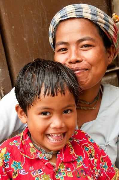 Smiling Marma Mother and Son - Bandarban, Bangladesh