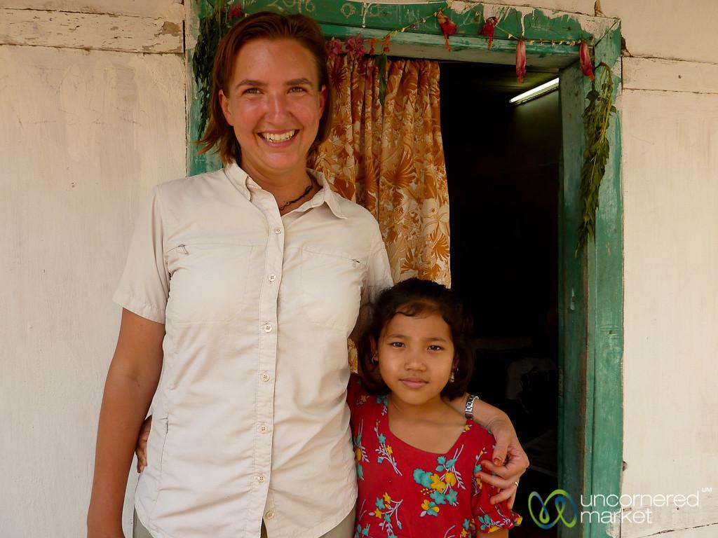 Audrey with Chakma Girl - Rangamati, Bangladesh