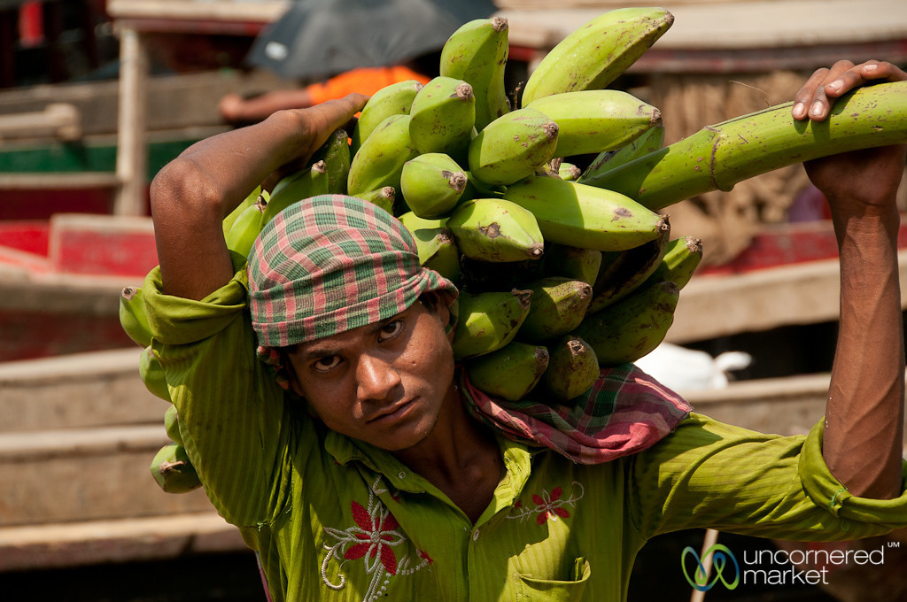 Carrying Banana Stalk at Market - Rangamati, Bangladesh
