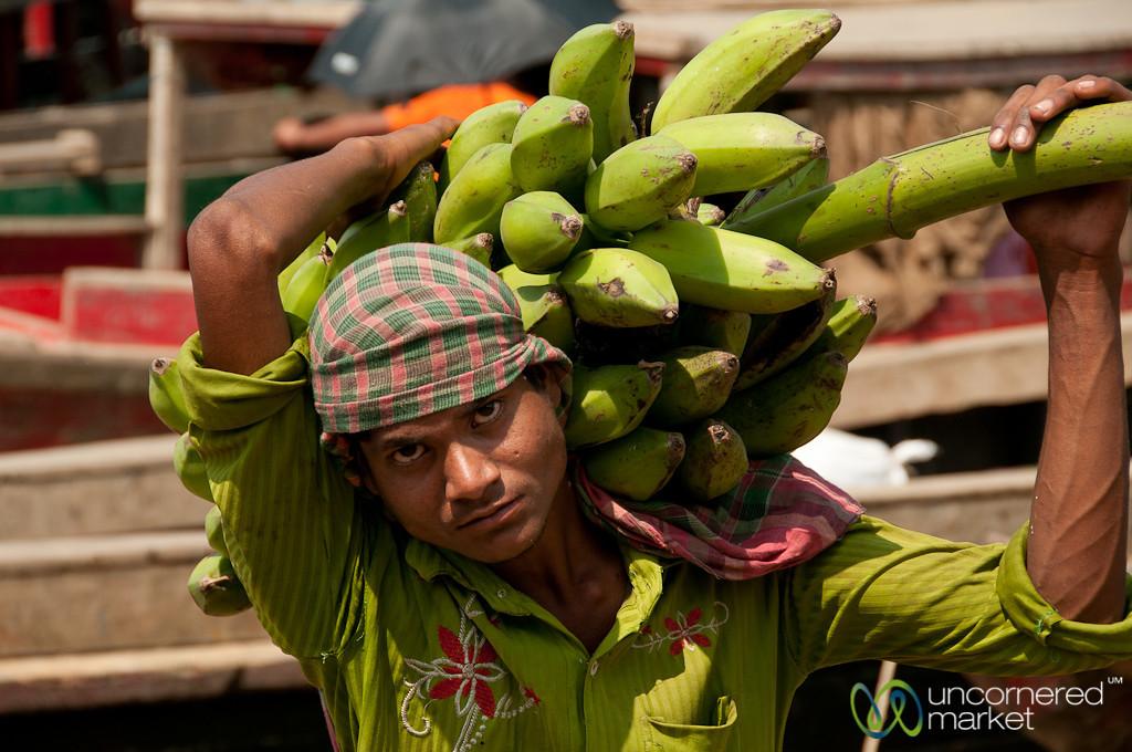 Carrying Banana Stalk at Market - Rangamati, Bangladesh