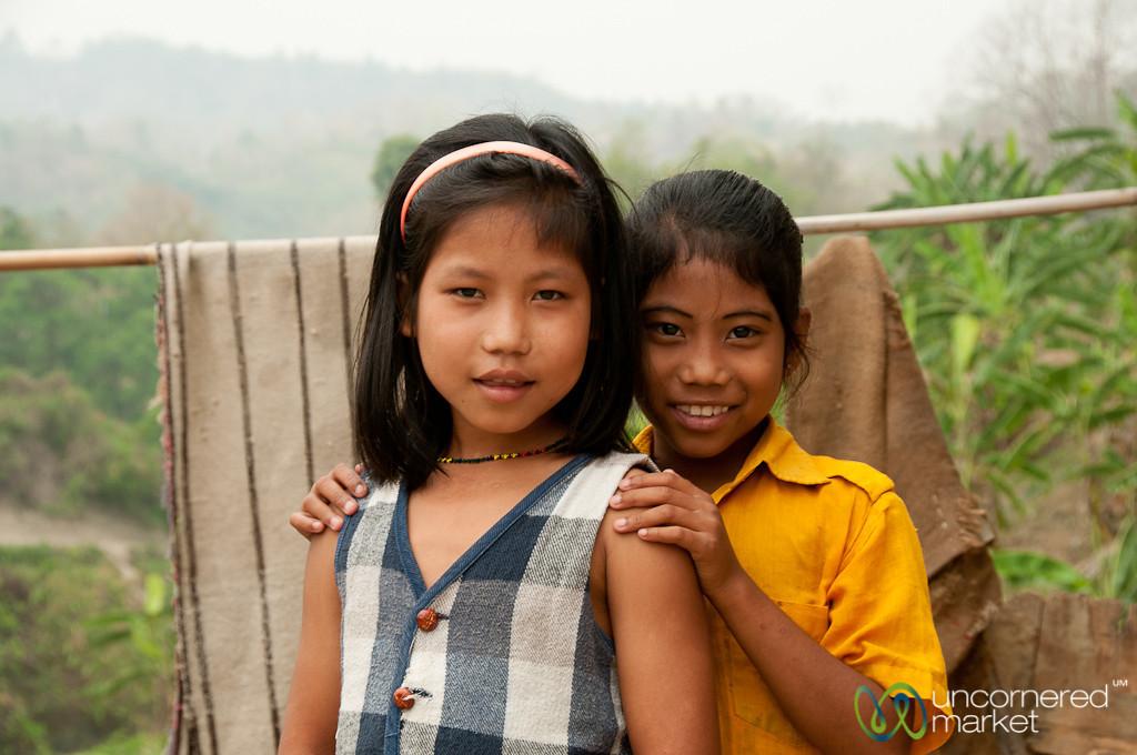 Girls in Village Outside Bandarban, Bangladesh
