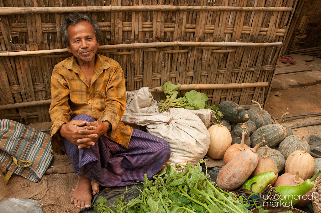 Vegetable Vendor at Weekly Market - Bandarban, Bangladesh