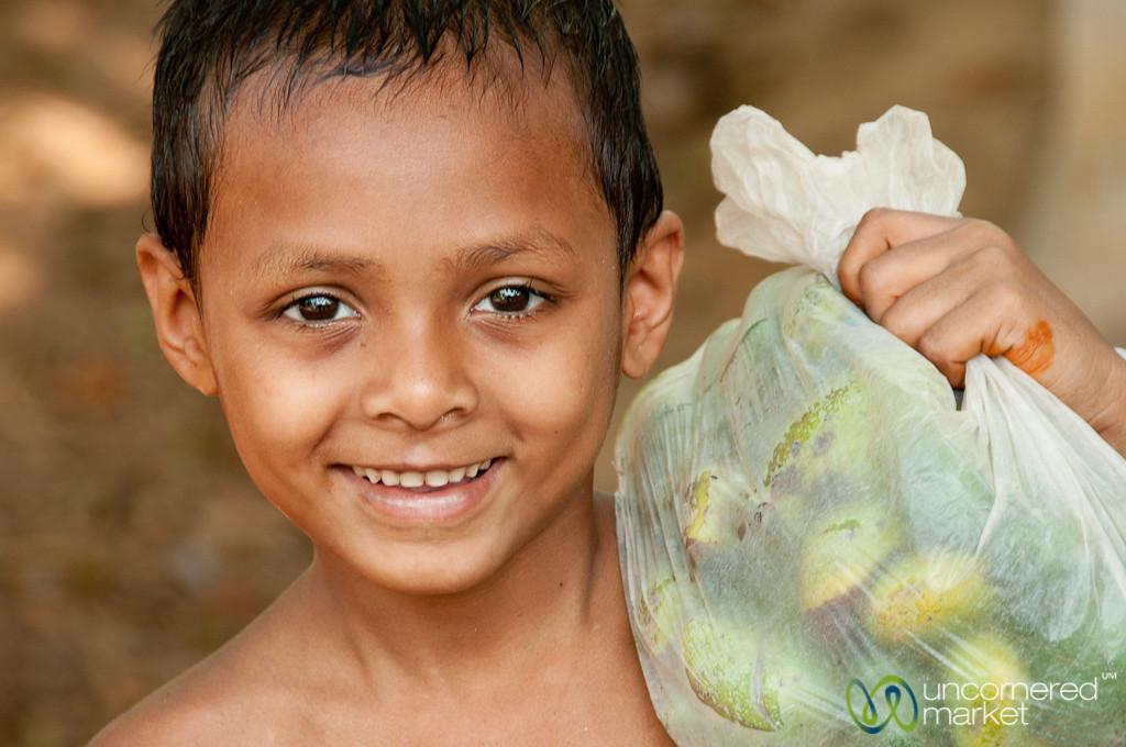 Young Boy with Fruit - Rangamati, Bangladesh