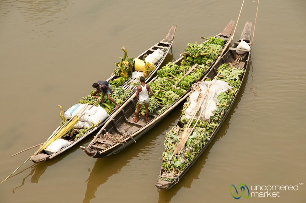 Boats Filled with Bananas - Bandarban, Bangladesh