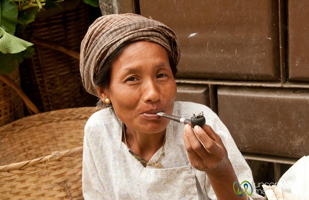 Marma Woman Enjoying a Smoke - Bandarban, Bangladesh