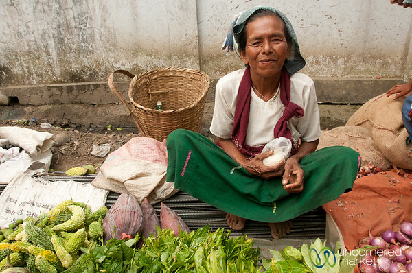 Vegetable Vendor at Market - Bandarban, Bangladesh