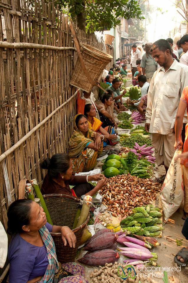 Row of Vegetable Stands at Market - Bandarban, Bangladesh