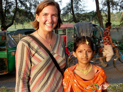 Audrey with Young Bangladeshi Girl - Chittagong, Bangladesh