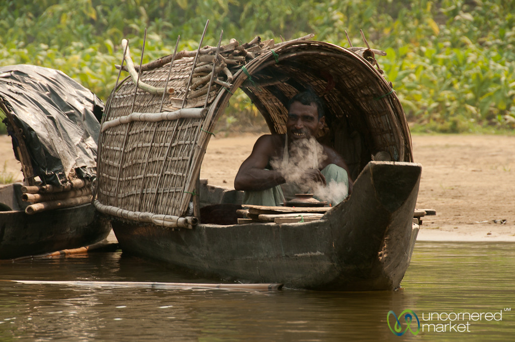 Smoking Inside Boat on Shangu River - Bandarban, Bangladesh
