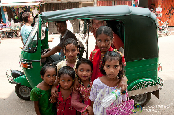 Kids and a Rickshaw - Rangamati, Bangladesh