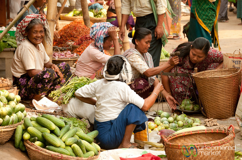 Marma Vegetable Vendors at Market - Bandarban, Bangladesh