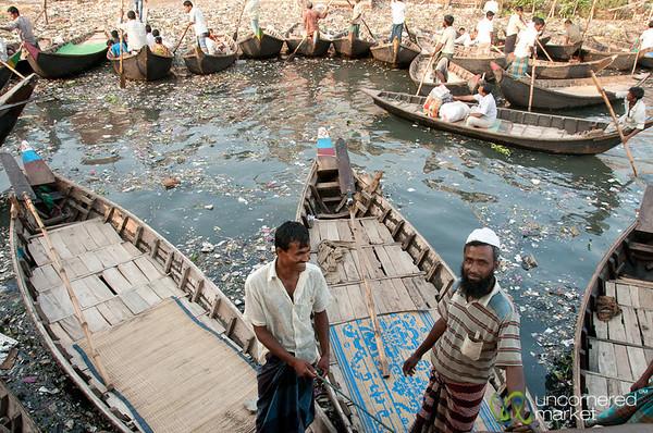 Boat Men at Sadarghat - Dhaka, Bangladesh
