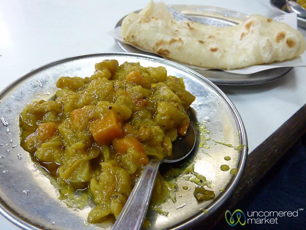 Sabzi and Paratha Breakfast - Old Dhaka, Bangladesh