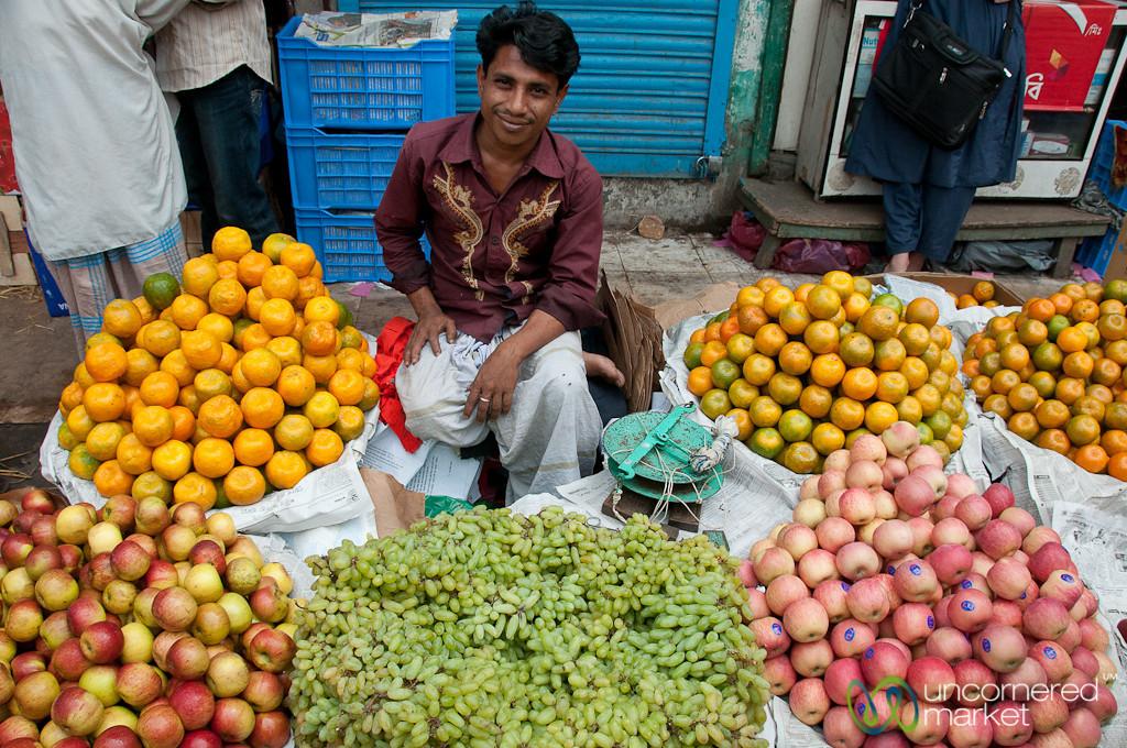 Piles of Fruit in Old Dhaka, Bangladesh