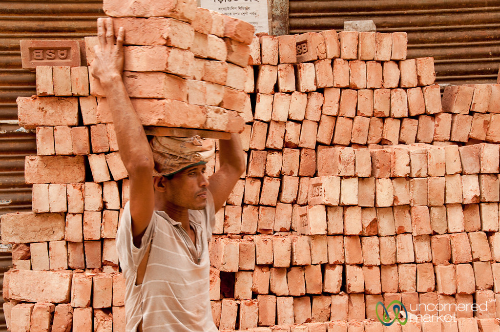 Brick Carrier of Old Dhaka - Bangladesh