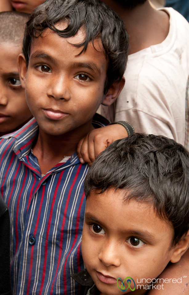 Group of Curious Kids in Old Dhaka - Bangladesh