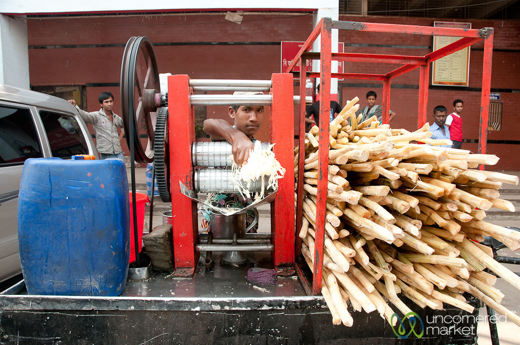 Sugar Cane Juice on Streets of Old Dhaka - Bangladesh