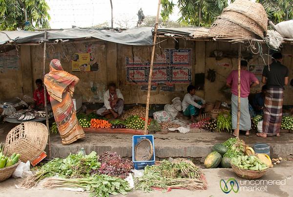 Simple Street Market in Old Dhaka - Bangladesh