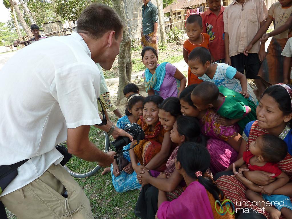Having Fun with the Kids of the Garo Village - Srimongal, Bangladesh