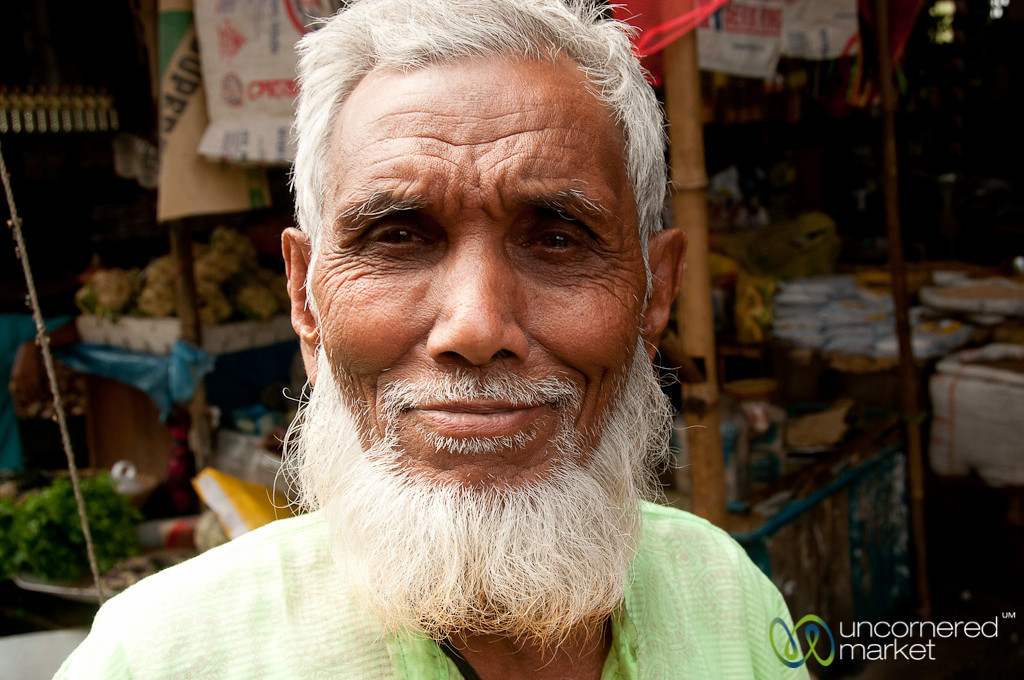 Man with White Beard and Smile - Srimongal, Bangladesh