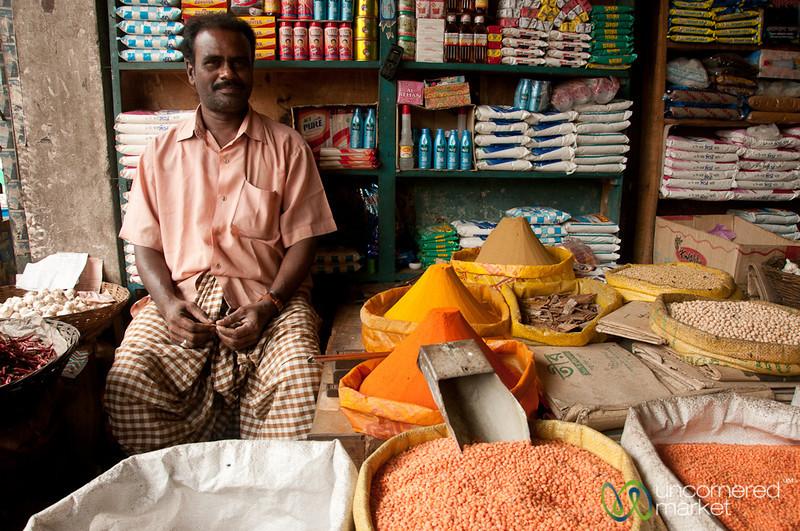 Pulse Vendor at Srimongal Market - Bangladesh