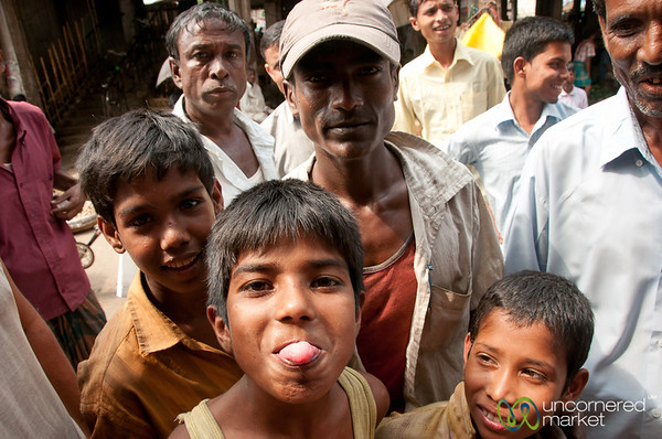 Kids Playing Around at Srimongal Market - Bangladesh