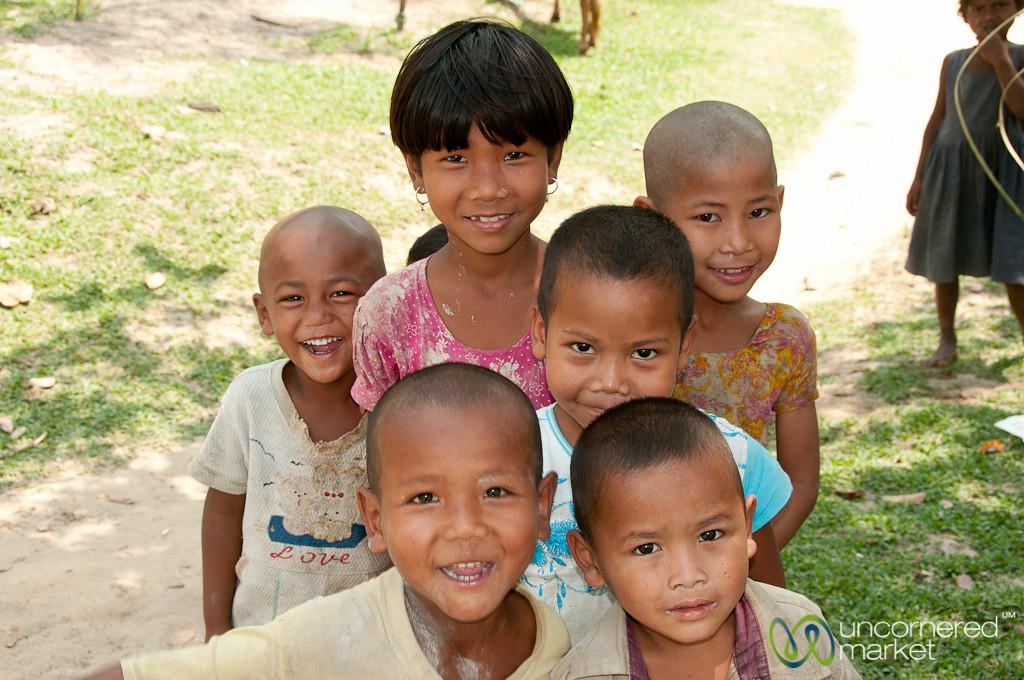 Group of Garo Kids - Srimongal, Bangladesh