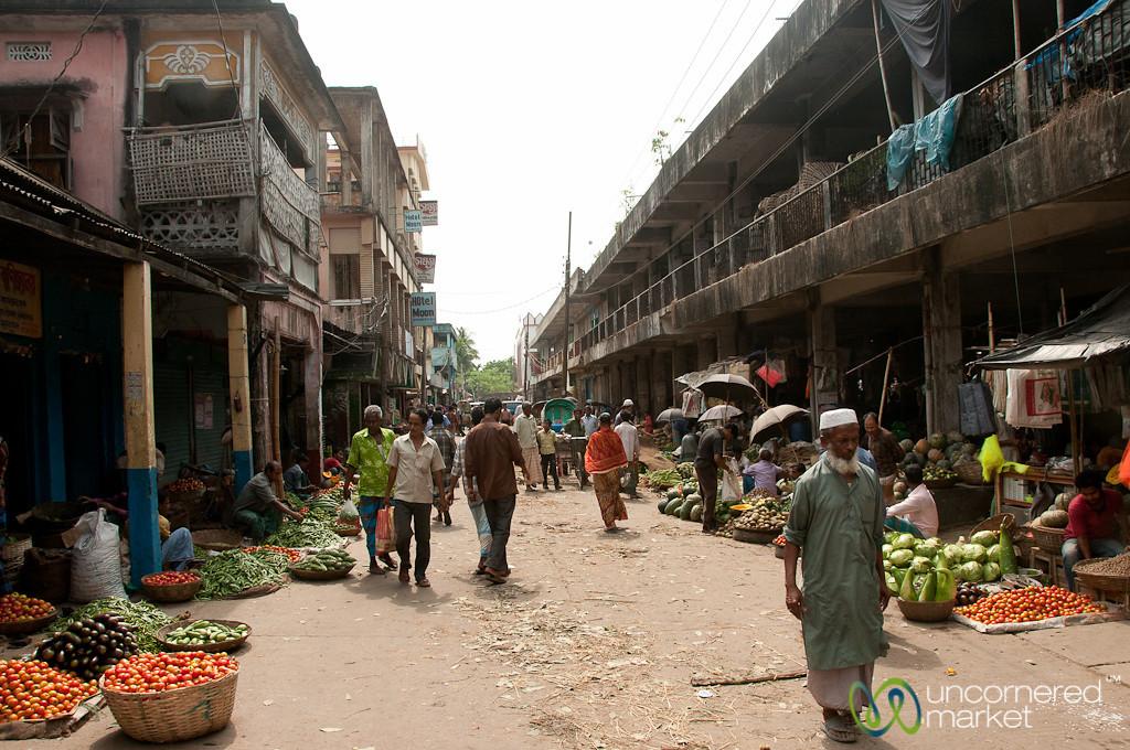 Srimongal's Vegetable Market Street - Bangladesh