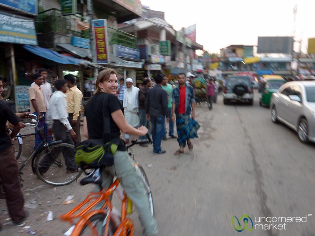 Audrey Rides Bike Through Srimongal - Bangladesh