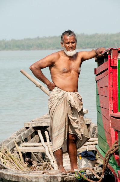 Older Man on the River - Sundarbans, Bangladesh