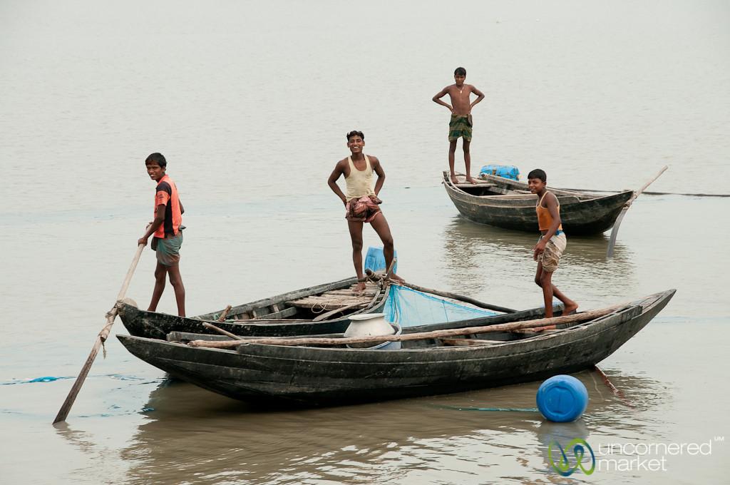 Fishing Boats on the River - Khulna to Sundarbans, Bangladesh