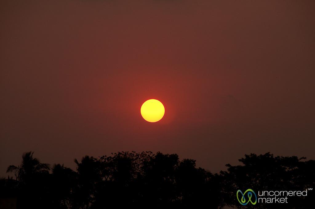 Sunset Like Bangladeshi Flag - Khulna