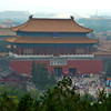 The view from the hilltop pagodas in Jingshan Park