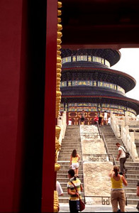 Hall of Prayer for Good Harvests through northern door, Temple of Heaven