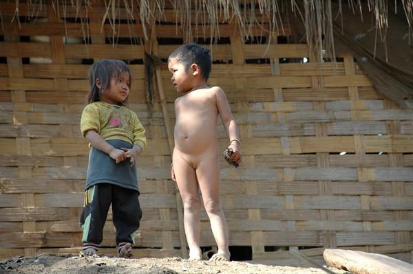 Khmu Village Girls - Luang Prabang, Laos