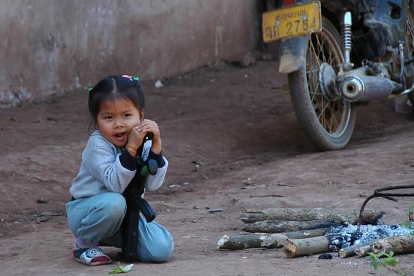 Girl with a Gun - Luang Prabang, Laos