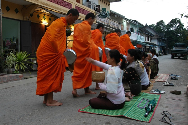 Monks Morning Alms - Luang Prabang, Laos