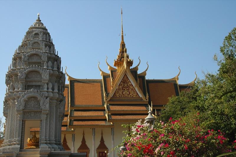 Stupa and Silver Pagoda - Phnom Penh, Cambodia