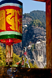The Tiger's Nest monastery sits high up on the hill side.  It's a long hike up.