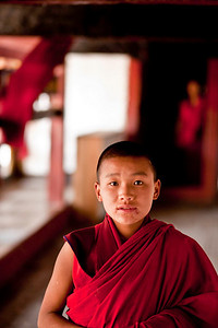 When visiting the temples young monks and the color red are everywhere.