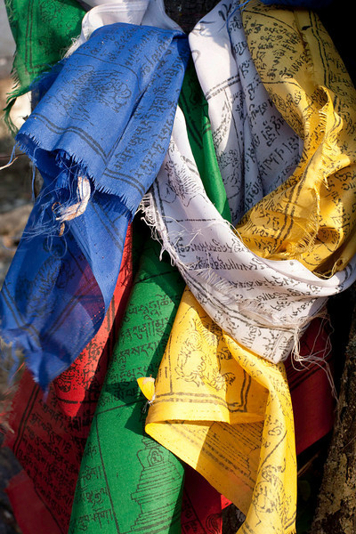 Prayer flags of many colors each with their own significance
