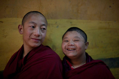 Two young monks in Paro