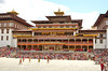 The festival grounds with the Thimphu Dzong in the background