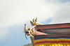 Dragons overlooking the festival grounds at the Thimphu Dzong