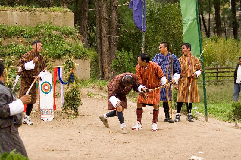 Archery contest in Thimpu